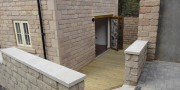Patio area of  a New Build